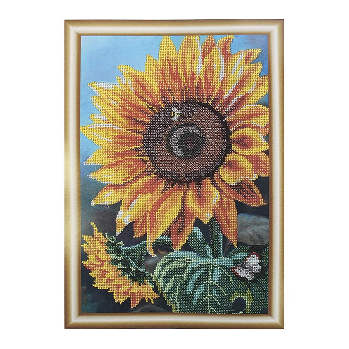 "Набор для вышивания бисером БН-3122 ""Цветок солнца"", 25х39 см, Hobby&Pro"