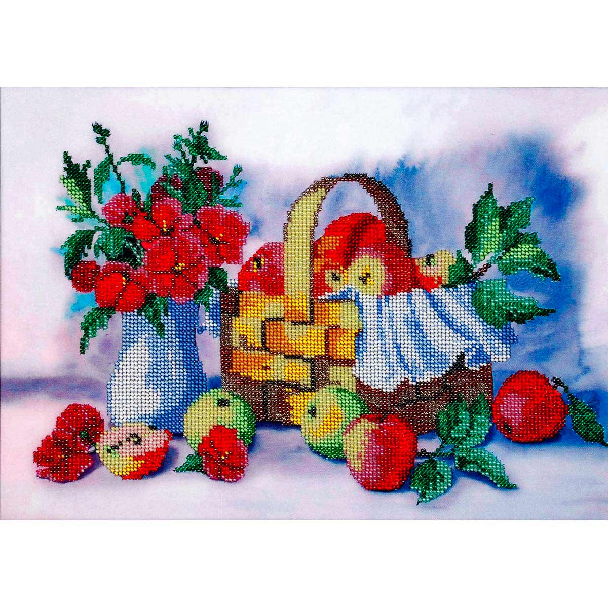 """Набор для вышивания бисером БН-3101 """"Лукошко яблок"""", 35х25 см, Hobby&Pro"""