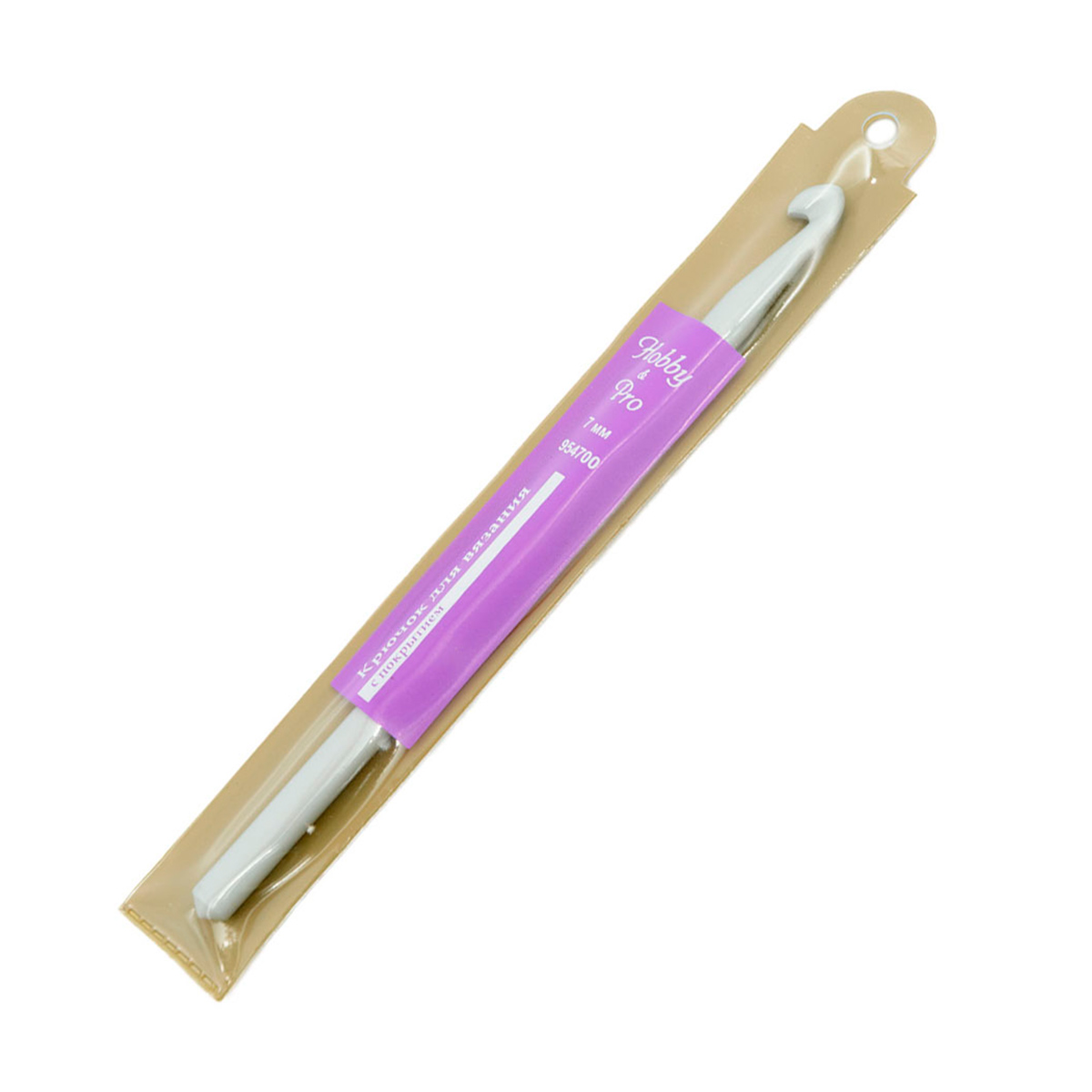Крючок для вязания с покрытием 954700, 7 мм, Hobby&Pro