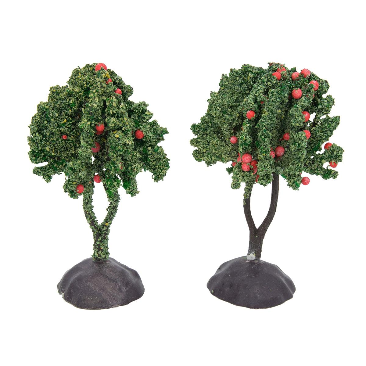 BGAT-8 Миниатюра. Деревце с плодами, 8см, 2шт/упак, цв.