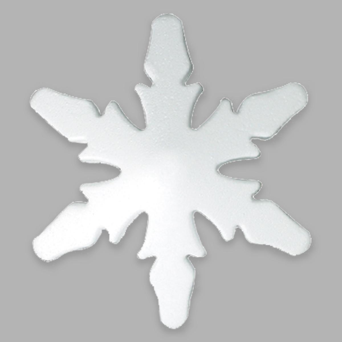 Заготовка для декорирования из пенопласта 'Снежинка стилизованная', h 17,5*9см