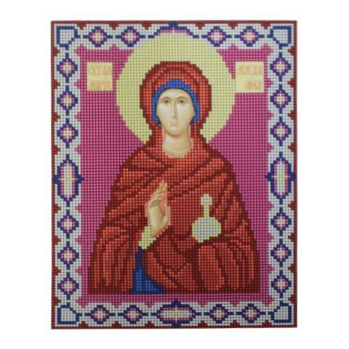 9072 Рисунок на ткани для вышивки бисером Nitex 'Св. Равноапостольная Мария Магдалина', 17*22 см