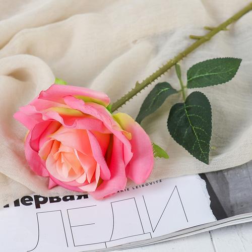 """3794242 Цветы искусственные """"Роза Гран При"""" 7*46 см, розовый"""