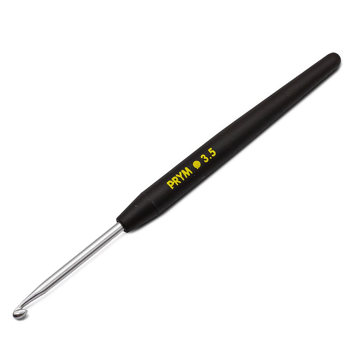 195175 Крючок SOFT вязальный с мягкой ручкой, алюм. 3,5 * 14 Prym