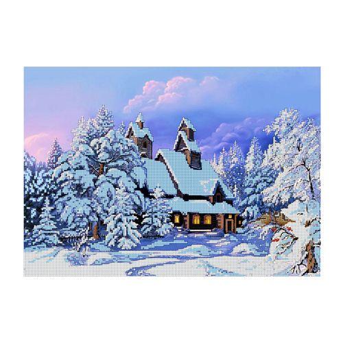 БН-3151 Набор для вышивания бисером Hobby&Pro 'Зимняя сказка', 40*28 см