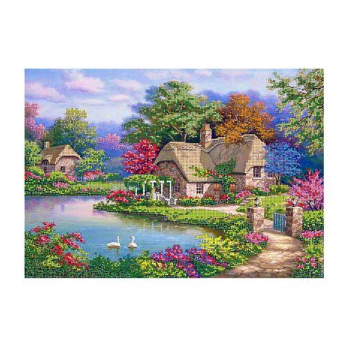 БН-3156 Набор для вышивания бисером Hobby&Pro 'Цветение природы', 40*28 см