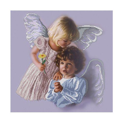 БН-3157 Набор для вышивания бисером Hobby&Pro 'Два ангела', 40*40 см