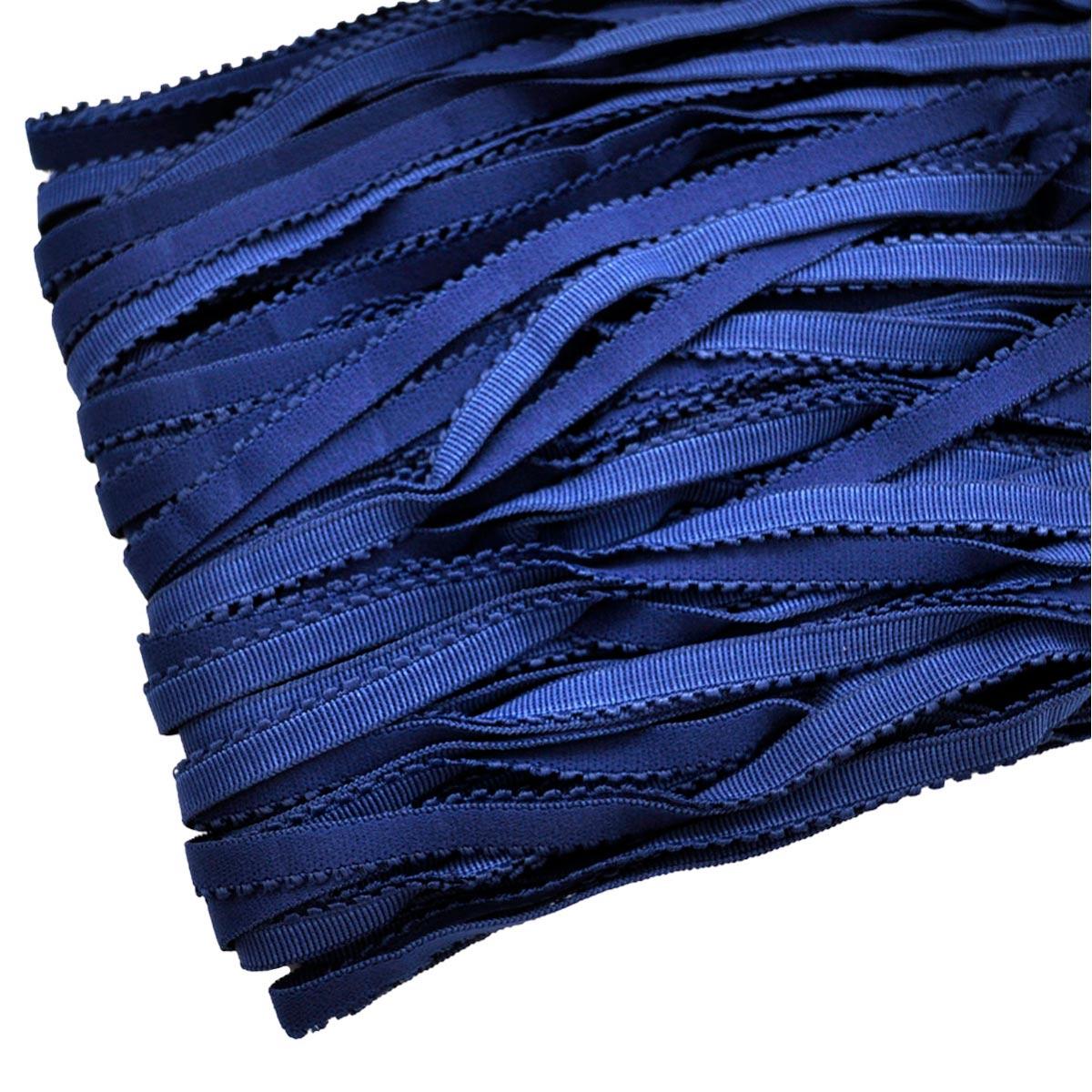 STD/26 эластичная ажурная лента 8мм*50м, темно-синий