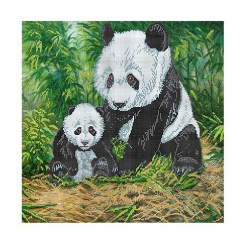 """Набор для вышивания бисером БН-3159 """"Панды"""", 40х40 см, Hobby&Pro"""