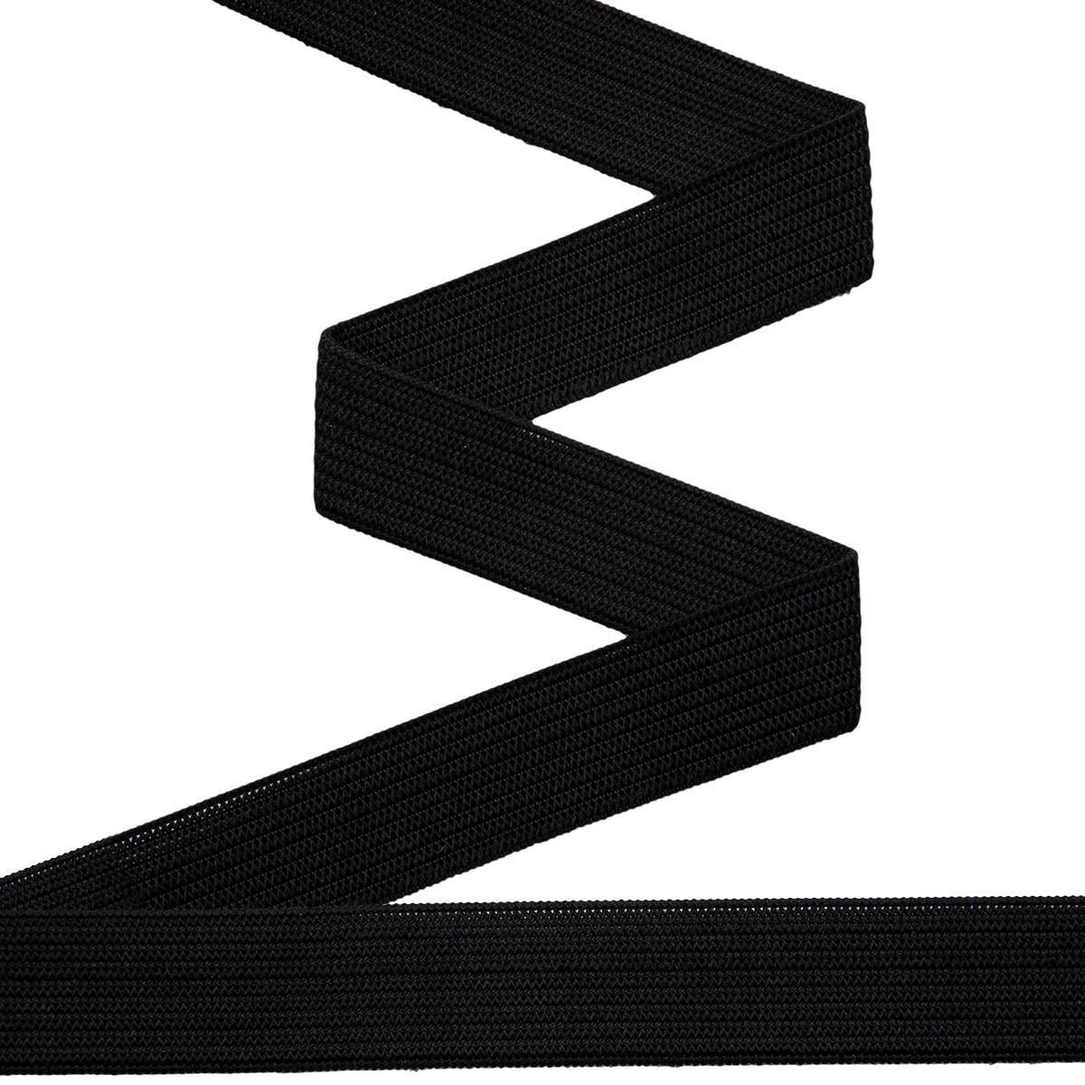 955350 Мягкая эластичная лента 15 мм черный цв. 10 м Prym