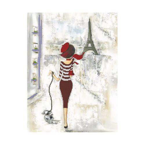 БН-3161 Набор для вышивания бисером Hobby&Pro 'Прогулка по Парижу', 30*40 см