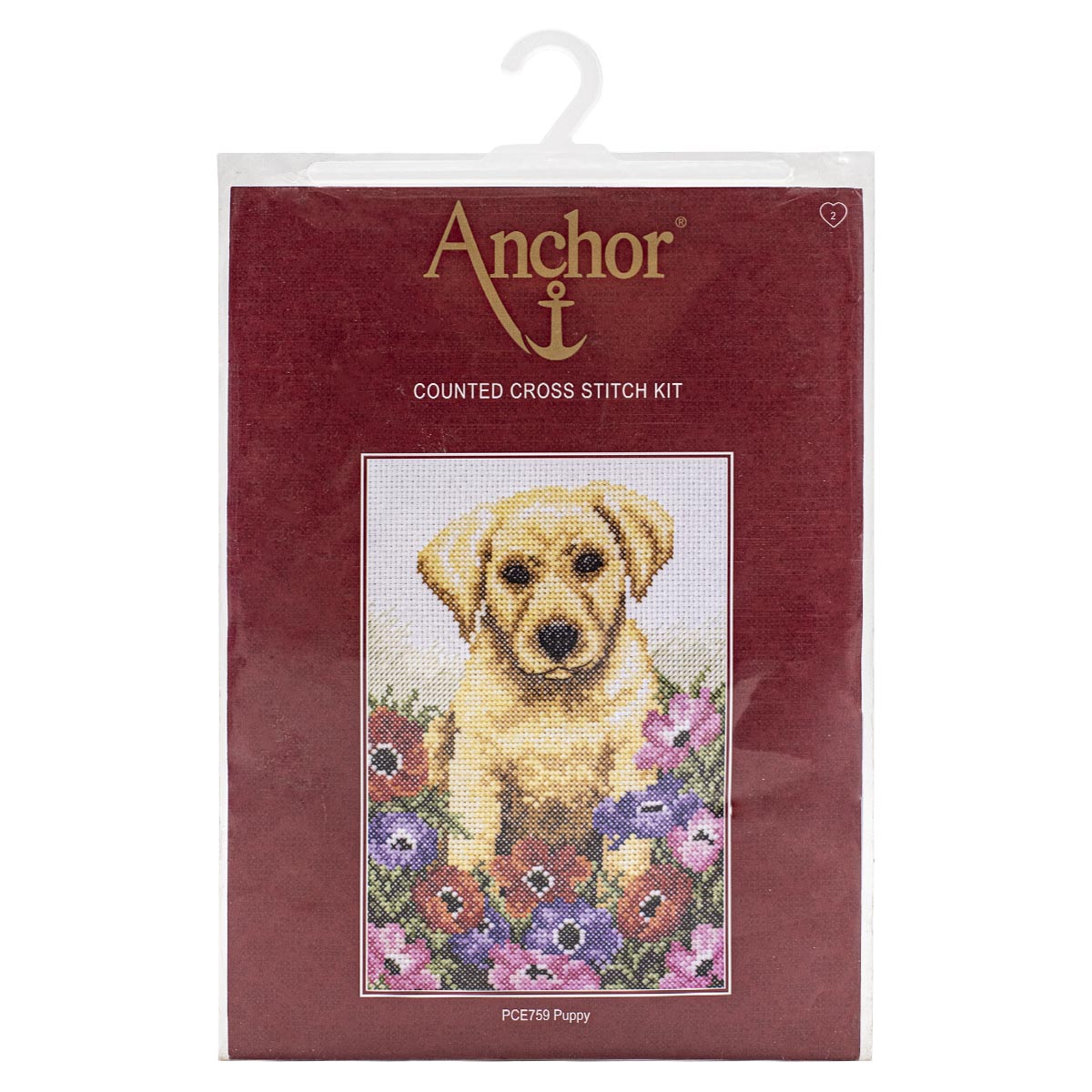 PCE759 Набор для вышивания Anchor 'Щенок' 23х16 см