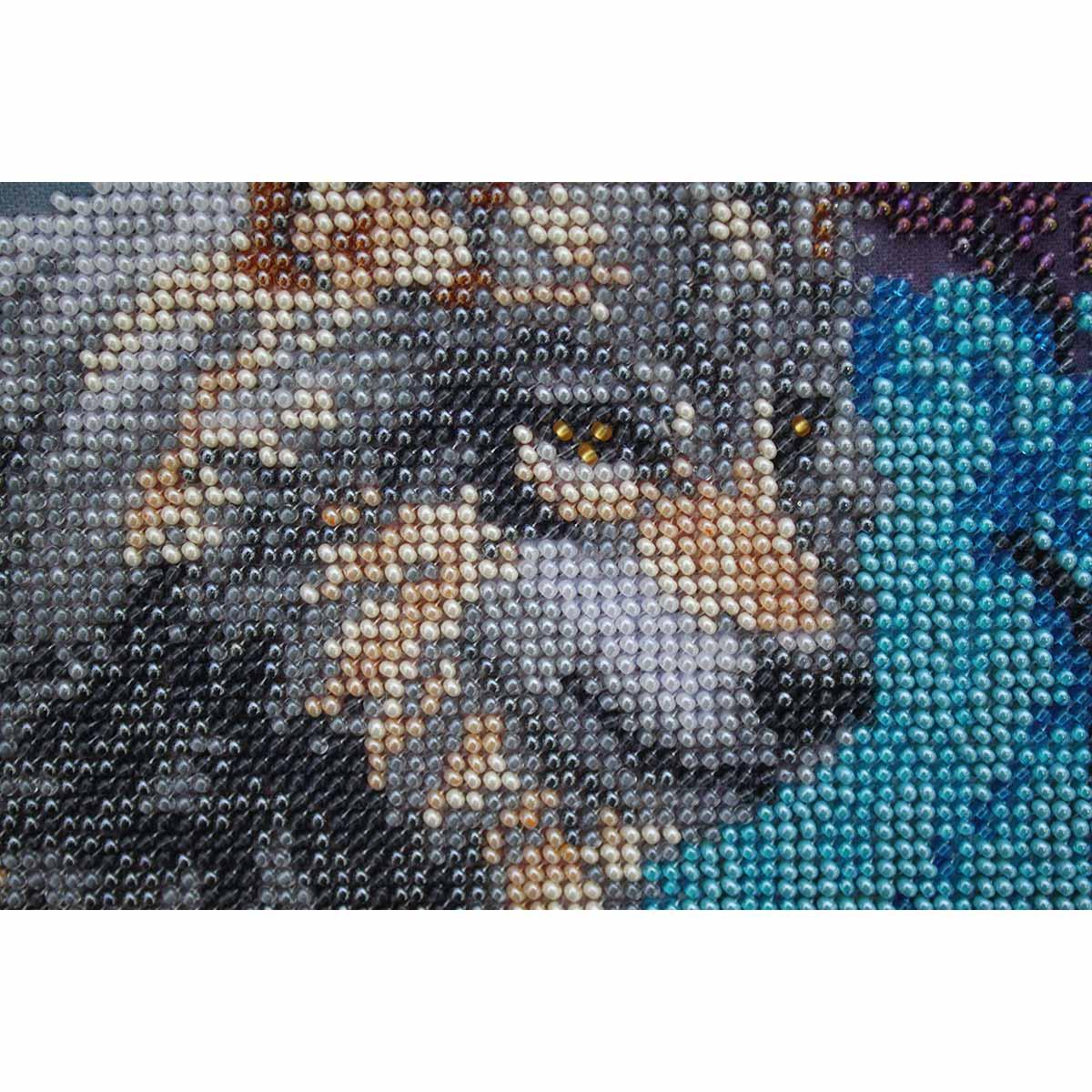 """Набор для вышивания бисером БН-3059 """"Волки"""", 38х30 см, Hobby&Pro"""