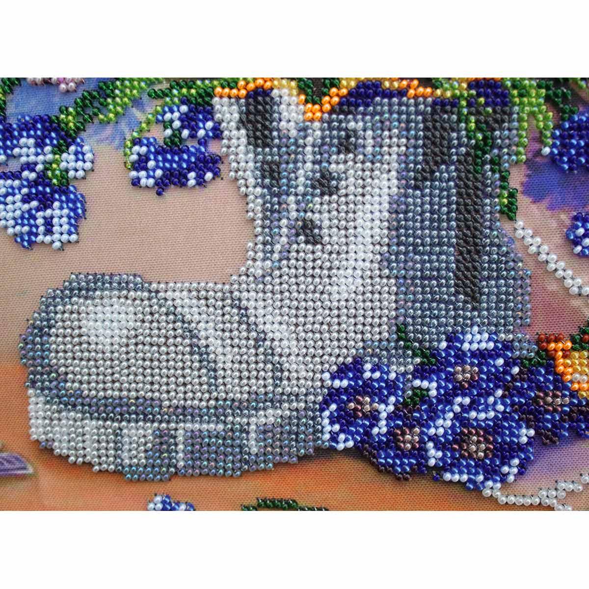 """Набор для вышивания бисером БН-3137 """"Башмачок с васильками"""", 35х28 см, Hobby&Pro"""
