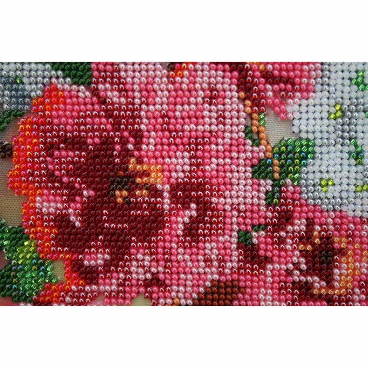 """Набор для вышивания бисером БН-3143 """"Георгины"""", 34х28 см, Hobby&Pro"""