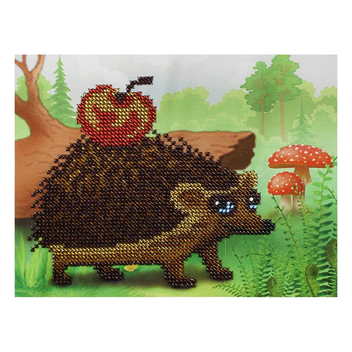 Б-0106 Набор для вышивания бисером 'Бисеринка' 'Счастливый ежик', 20*14,5 см