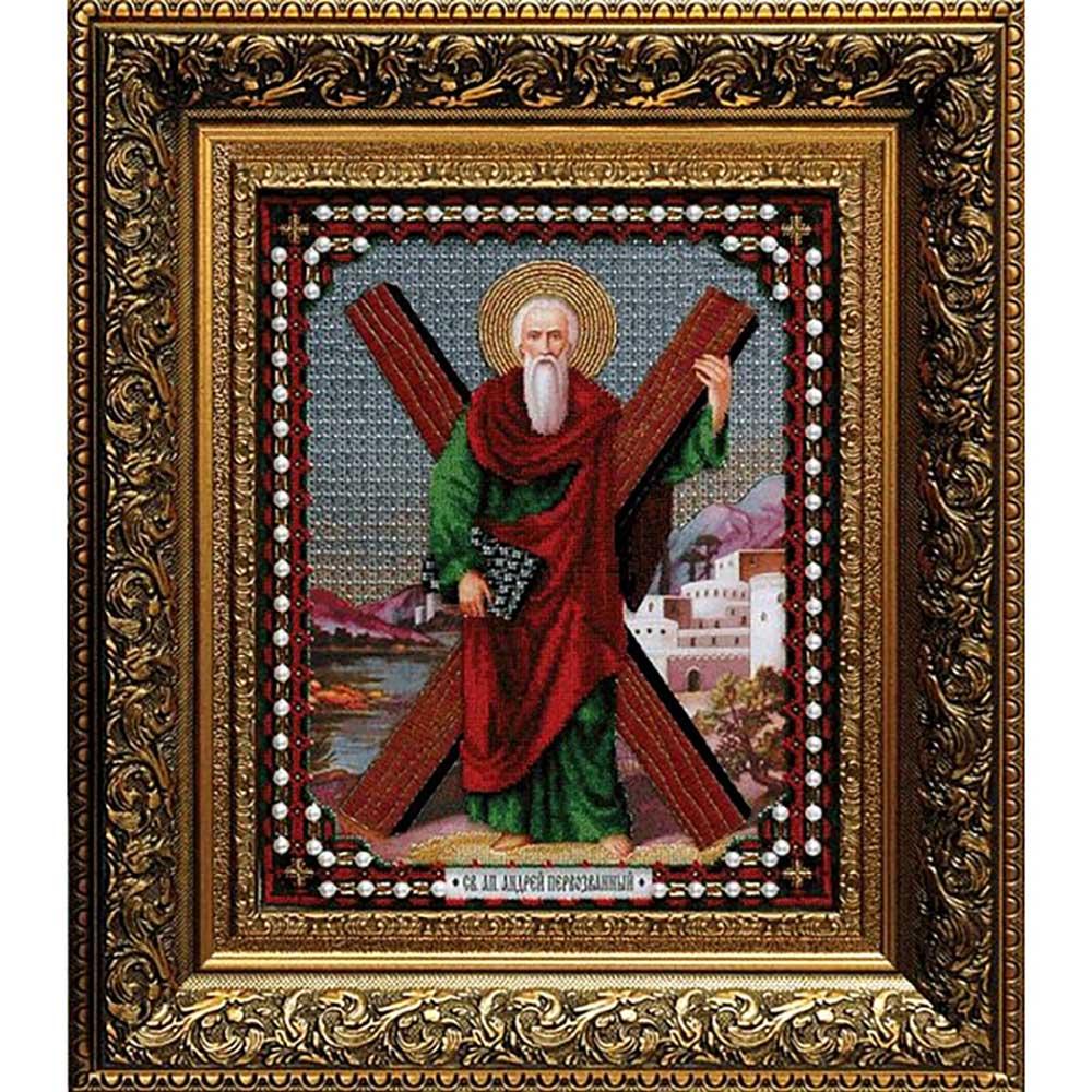 Б-1020 Набор для вышивания бисером Чарівна Мить 'Икона Андрея Первозванного' 28,1*35,7см
