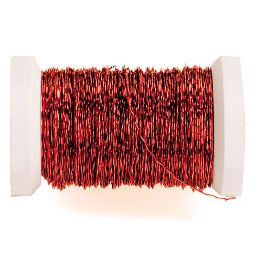 62210003 Проволока декоративная, Ø 0,30мм, 45м, красный Glorex