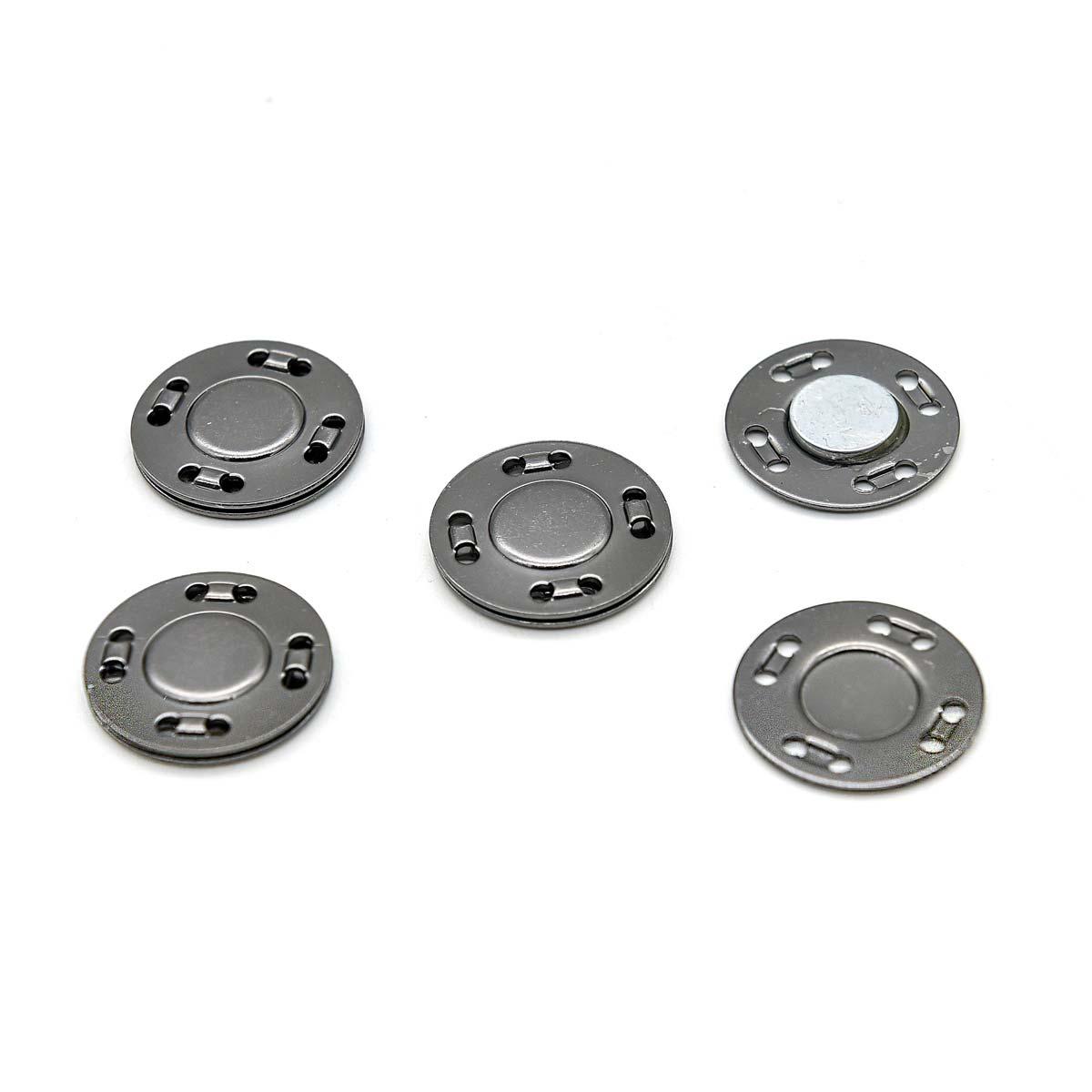 Кнопка магнитная пришивная 69016, 20 мм, черный никель, упаковка 4 шт., Hobby&Pro