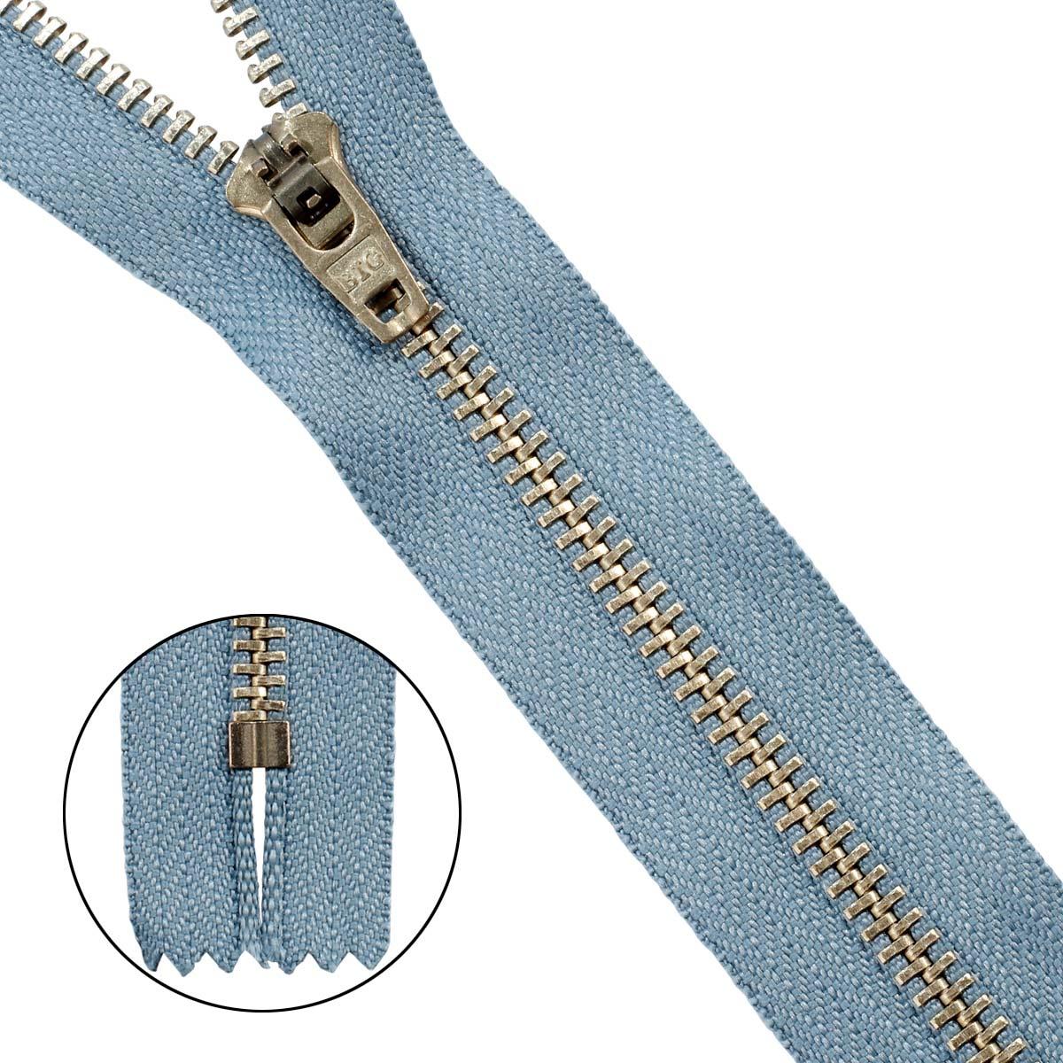 39067/14-3 Молния джинсовая 14 см с/сер.