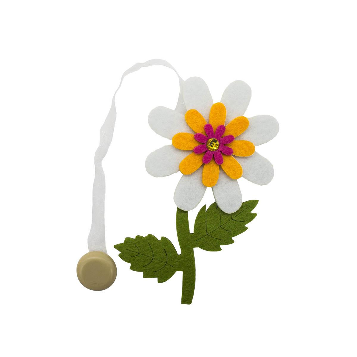 0368-0215 Клипса-магнит из фетра для штор 'цветок' 'Астра'