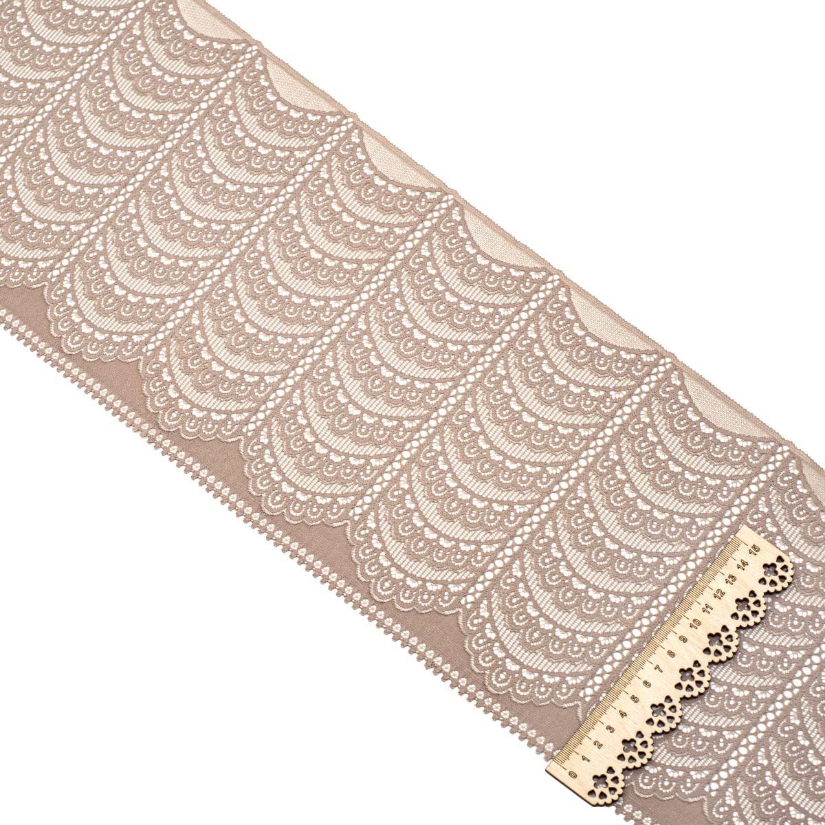 SU-19 Ткань эластичная бельевая 21,5 см*10 м, какао
