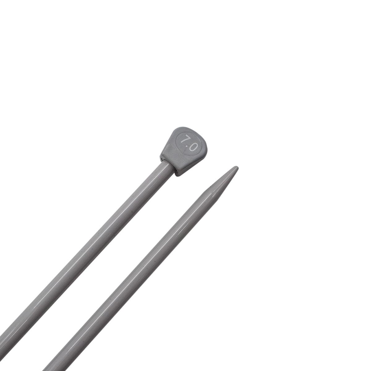 Спицы прямые алюминиевые с покрытием 940270/940207, 35 см, 7,0 мм, Hobby&Pro