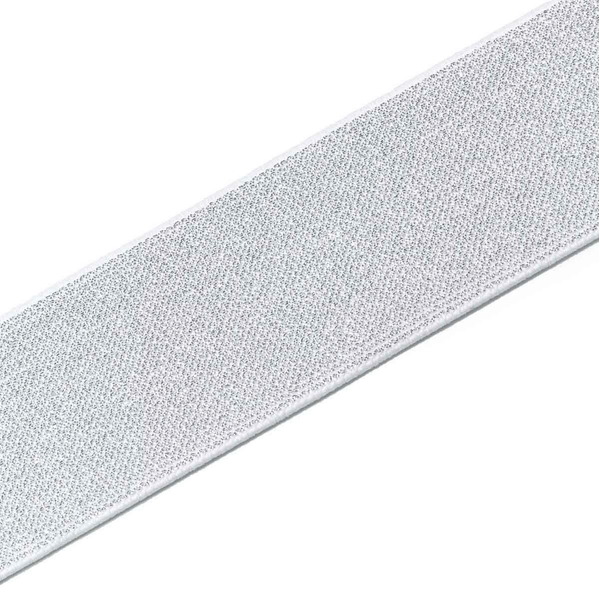 957465 Эластичная лента Color 50мм*7м, бел./сереб, Prym