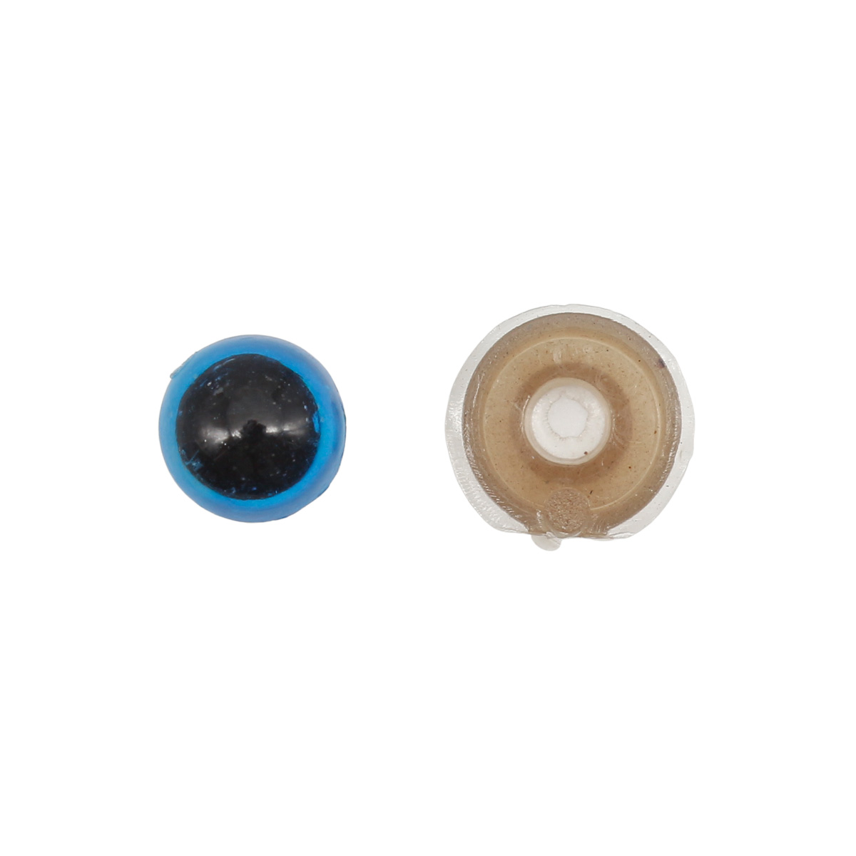 28695 Глазки пласт. с фиксатором № 4. 8мм*14мм, упак./10 шт., цв. голуб.