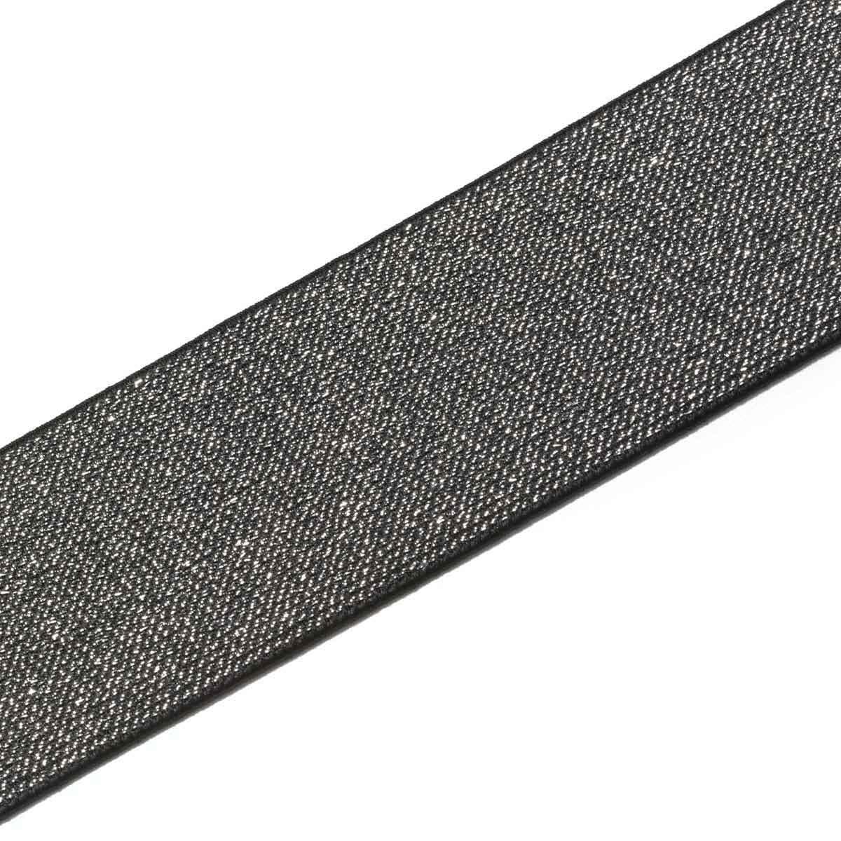 957467 Эластичная лента Color 50мм*7м, чер./сереб, Prym