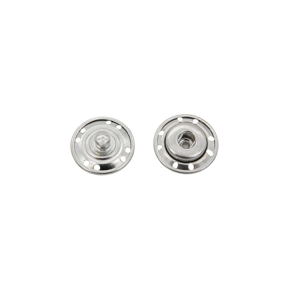 Кнопка пришивная d=16 мм 95114/15, никель упаковка, 4 шт., Hobby&Pro