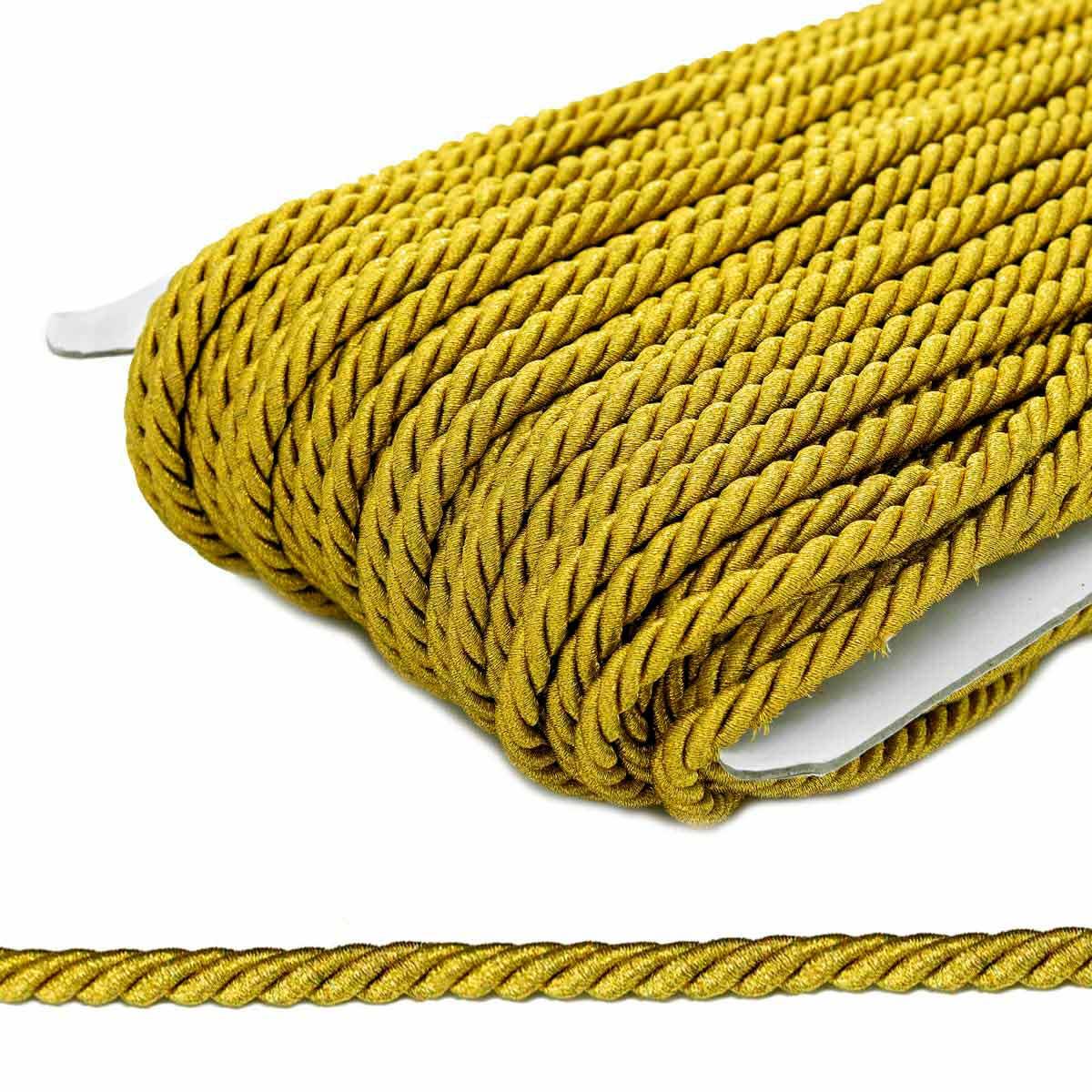 23-106 Шнур витой 6мм*50м люрекс (ГР)