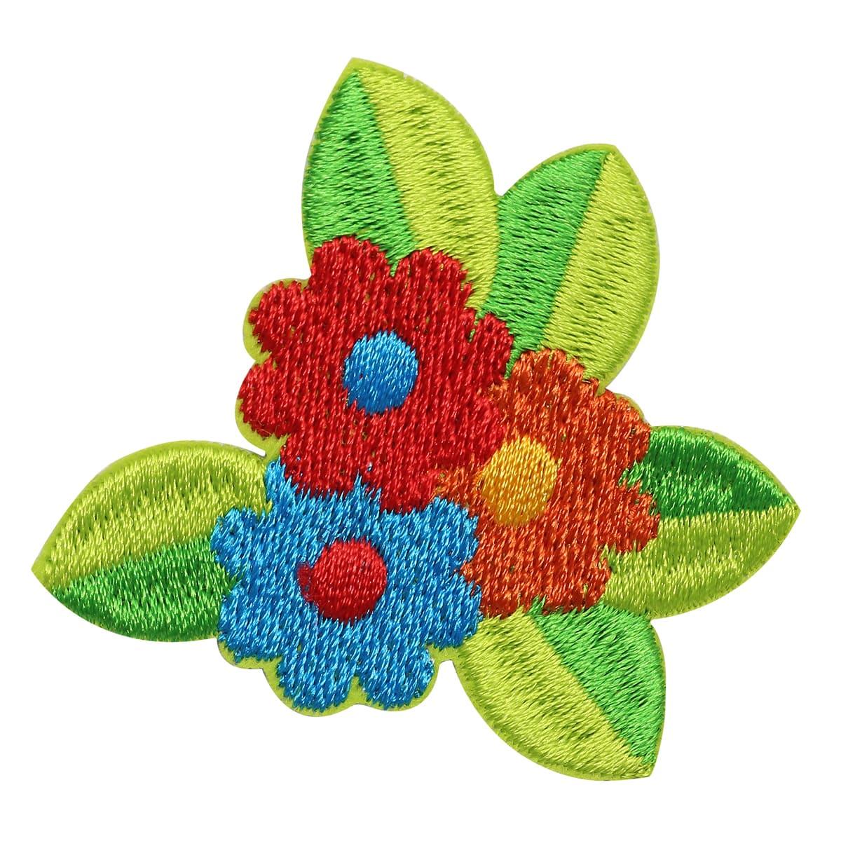 Термоаппликация 'Цветы', 5*5см