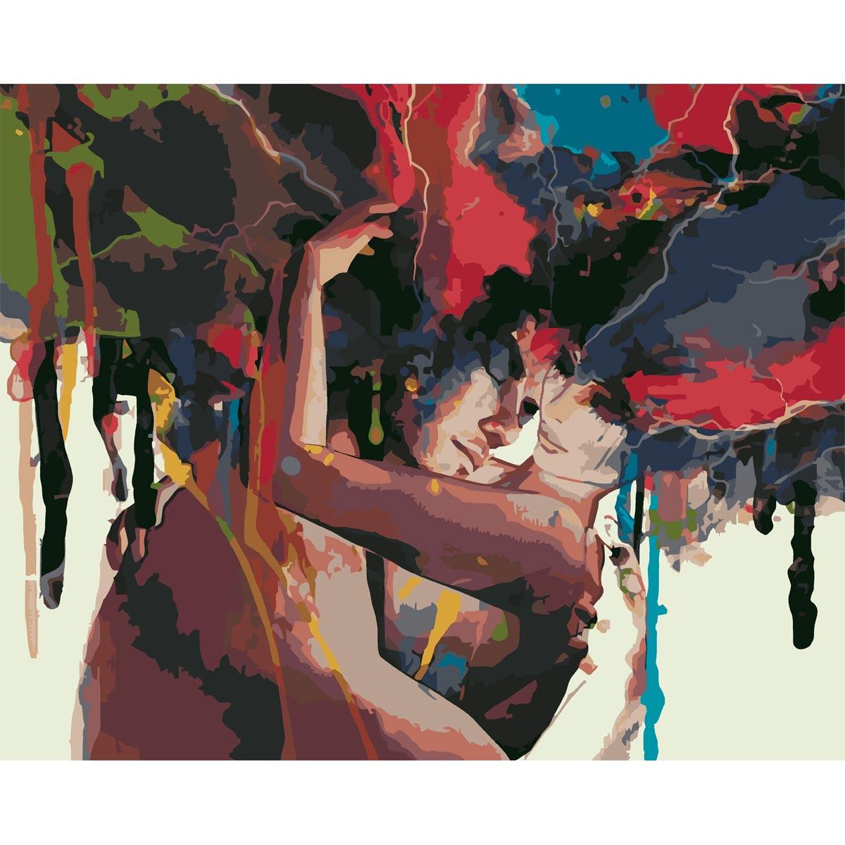 HS1154 Набор для рисования по номерам 'О любви в красках' 40*50см