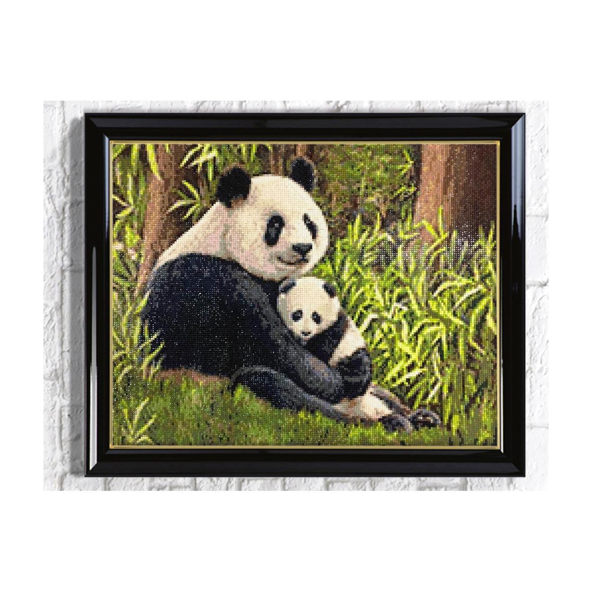 Ag 2691 Набор д/изготовления картин со стразами 'Мама панда' 50*40см Гранни