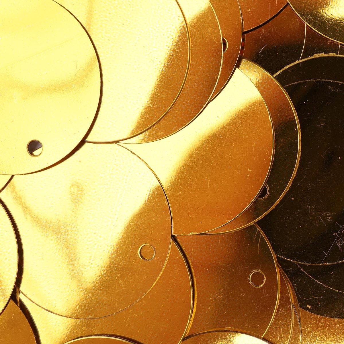 Пайетки плоские 25мм, 'Астра' 10г