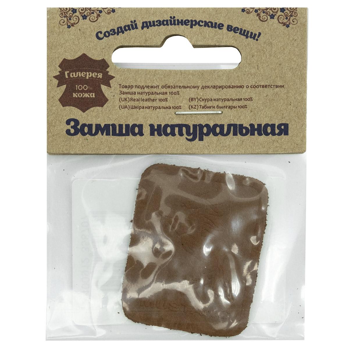5004 Термоаппликация из замши Mustang 3,5*4,37см, 100% кожа