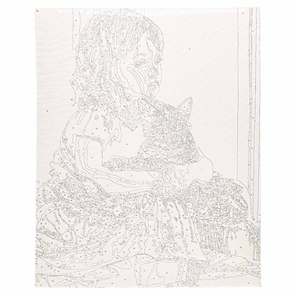 HS1142 Набор для рисования по номерам 'Теплые объятия' 40*50см