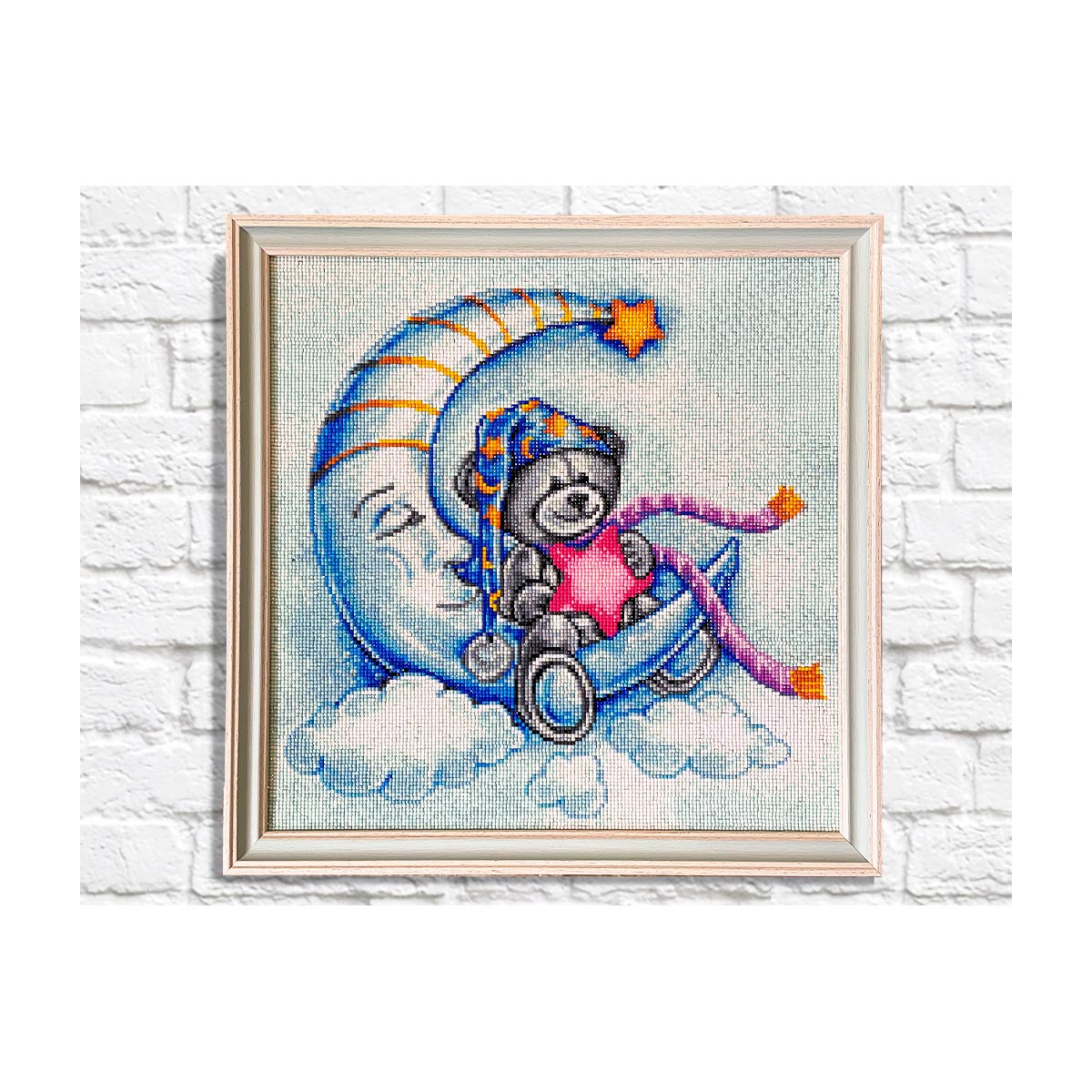 Ag 2578 Набор д/изготовления картин со стразами 'Сладкие сны' 40*40см Гранни