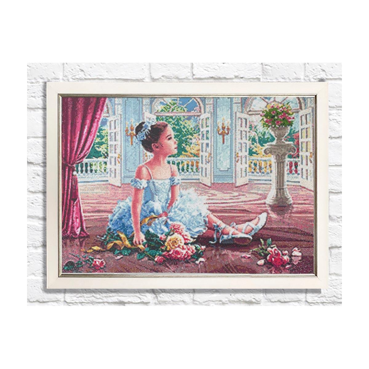 Ag 2491 Набор д/изготовления картин со стразами 'Юная балерина' 70*50см Гранни