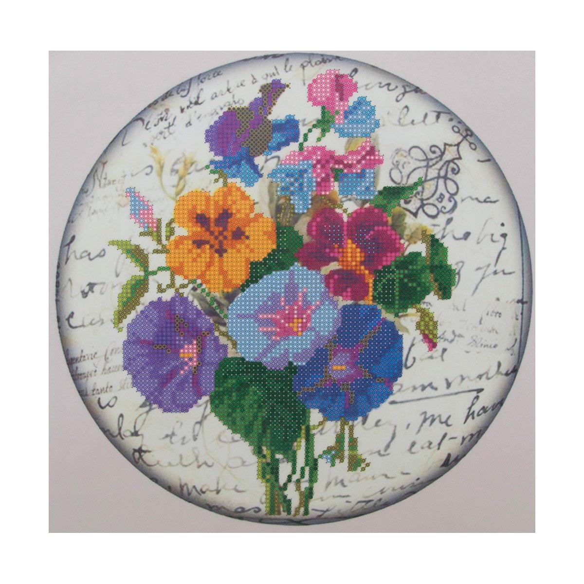 """Схема для вышивания бисером НР-3055 """"Цветики"""", 25х25 см, Hobby&Pro"""