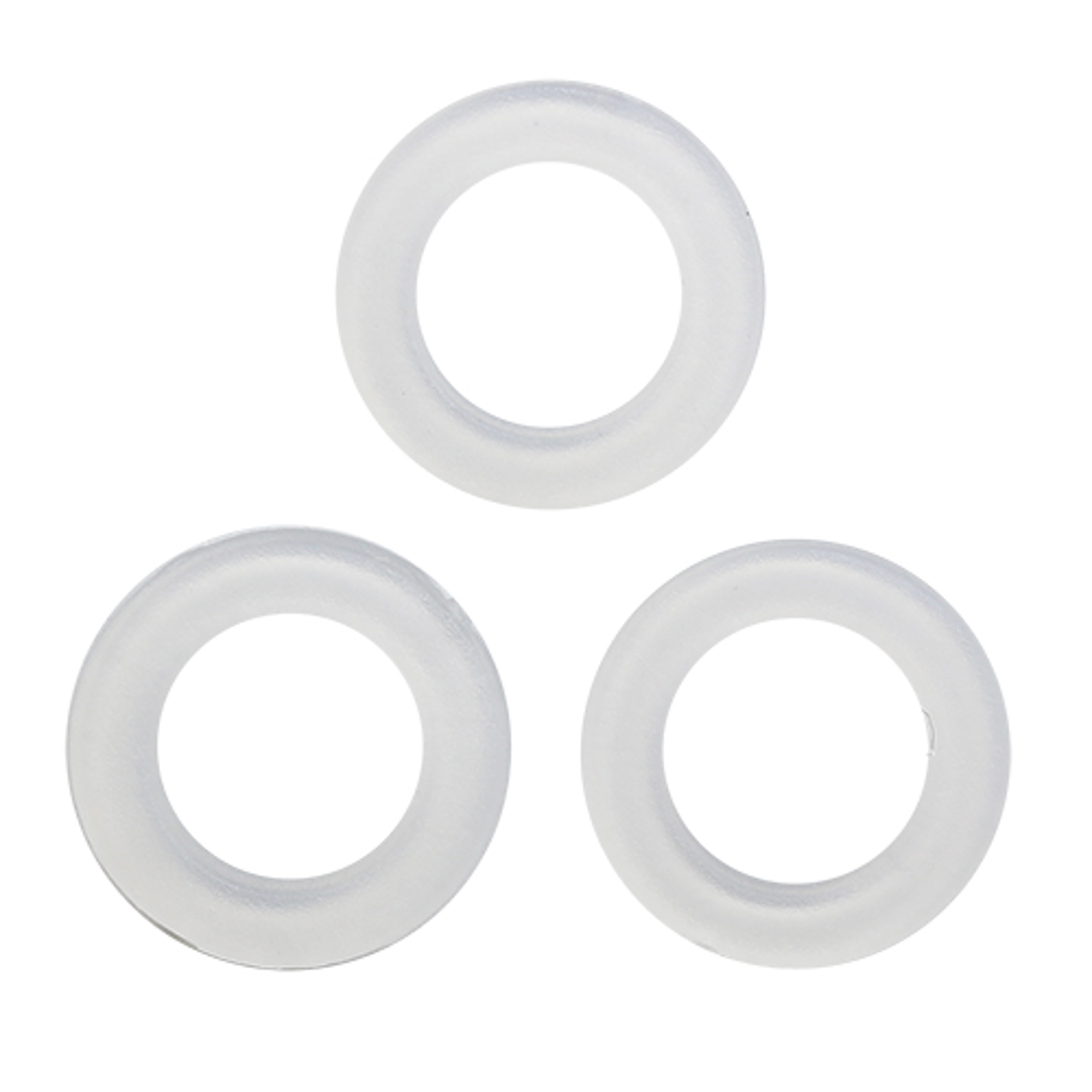 64773 Кольцо пласт. под кнопку, д-15мм кольцо , люверс д-5мм