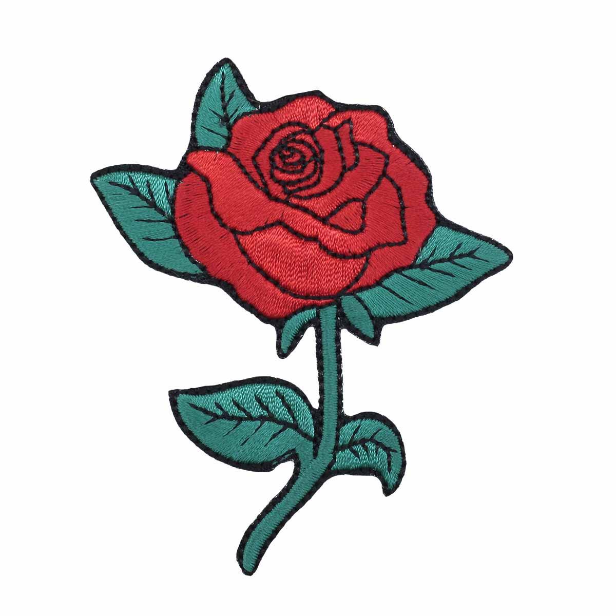Термоаппликация 'Роза' 8*6,5см Hobby&Pro