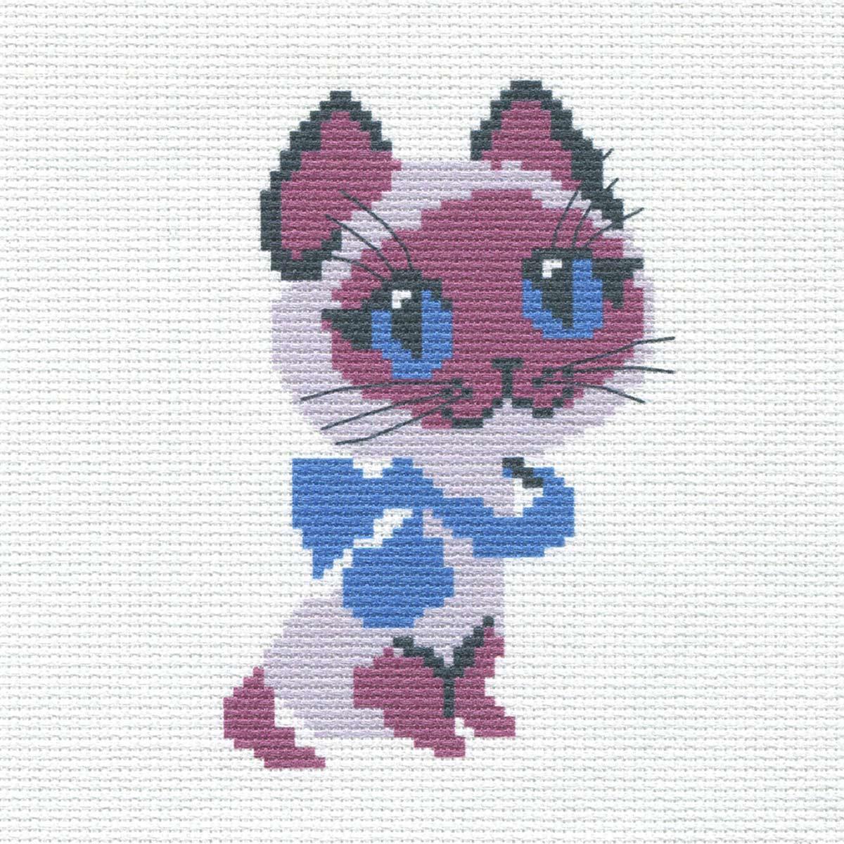 226 Набор для вышивания Hobby & Pro Kids 'Котёнок' 19*19см