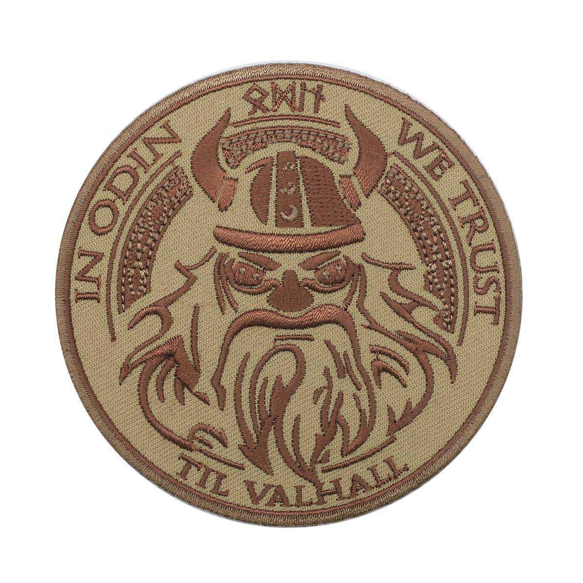 Термоаппликация 'In Odin we trust' 8,5см Hobby&Pro