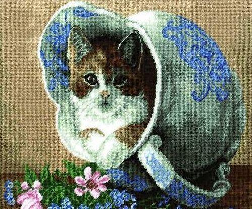 """Схема для вышивания бисером НР-3019 """"Кот в кувшине"""", 25х24 см, Hobby&Pro"""