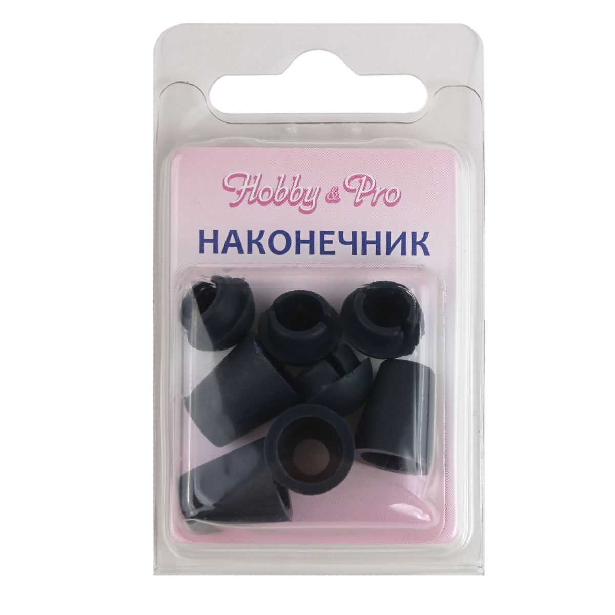 0305-3256 Наконечник 'Колокол' d=4,5/8мм, 13*11мм, 4шт, пластик Hobby&Pro