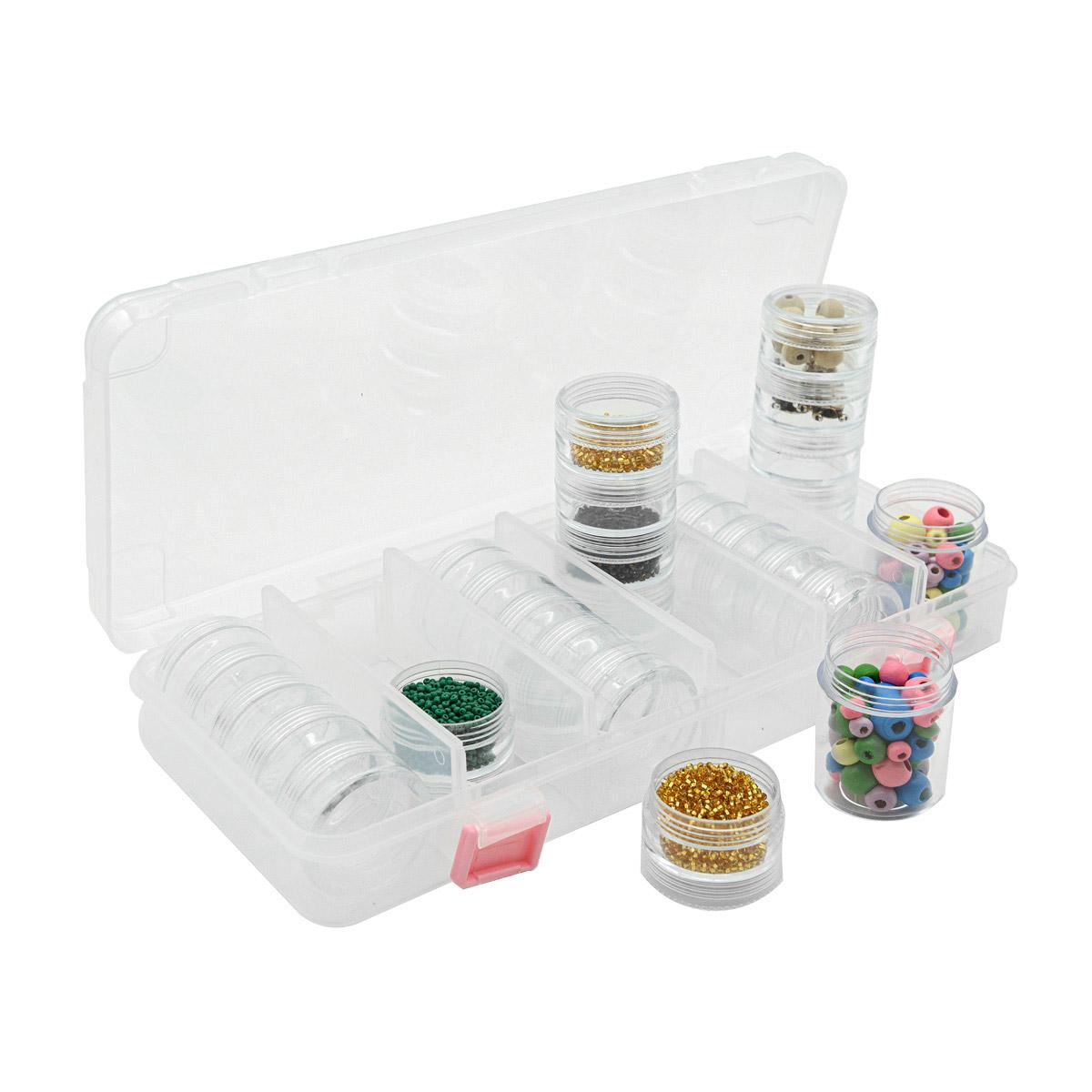 Контейнер для мелочей 930502, 6 секций, 27,9х13,1х4,5 см, Hobby&Pro