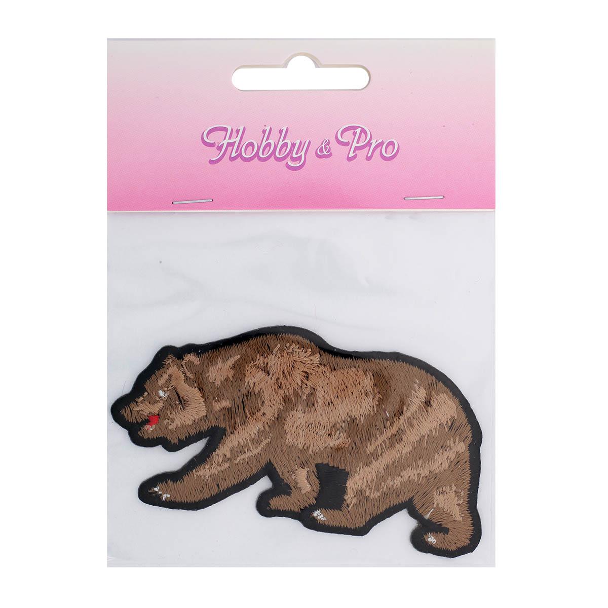 Термоаппликация 'Бурый медведь' 9*4,5см Hobby&Pro
