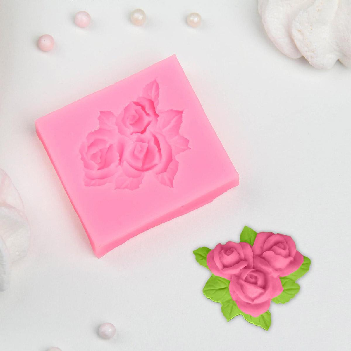 2389087 Молд 5,5*5 см 'Букет роз'